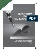 Buku pedoman tesis disertasi UNJ