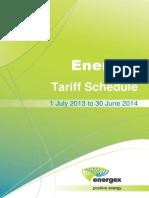 Energex Tariff Schedule