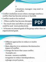 Methods for Resolving Conflcit