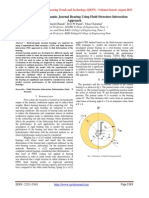 Analysis of Hydrodynamic Journal Bearing Using Fluid Structure Interaction Approach