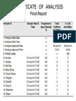 Coliform Report June 2014