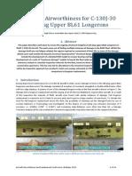 Technical Paper - Ensuring Airworthiness for C-130J-30 Aft-Plug Upper BL61 Longerons