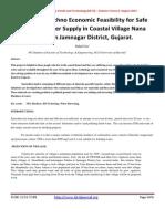 A Study of Techno Economic Feasibility for Safe Drinking Water Supply in Coastal Village Nana Ashota in Jamnagar District, Gujarat.