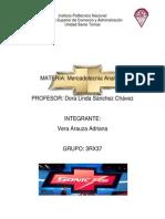 """""""Aplicación de La Mezcla Mercadológica""""Sonic RS"""