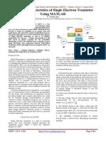 I-V Characteristics of Single Electron Transistor Using MATLAB