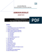 AdmissionBooklet CDAC-PG-DiplomaCourses Aug14 V2