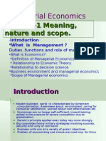 Managerial EconomicsùMeaning,nature,scope