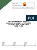 Procedimiento Para Notificacion, Clasificacion, Registro e Investigacion de Los Accidente Con Daños Ambientales (2) (Reparado)