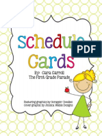 Schedule Cards the First Grade Parade
