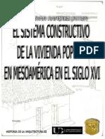 El Sistema Constructivo de La Vivienda Popular en Mesoamérica a Principios Del Siglo Xvi