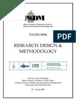 Research Design, Methodology