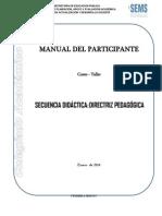 Manual Del Participante Secuencia Didactica