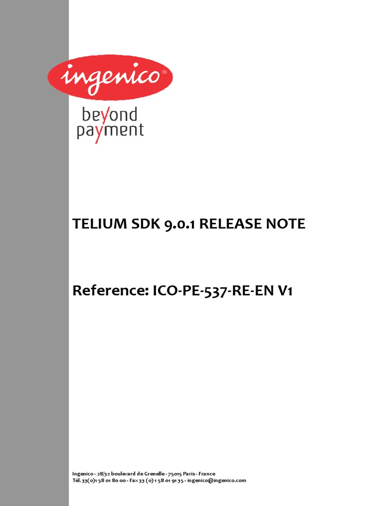 Release Note | Emv | Smart Card