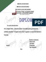 Diploma Caragiale