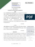 Ciampolillo Giuseppe Anza' Salvatore Procedimento 9916 2011 Memoria Udienza 28 12 2011 Risposta 18 12 11[1]