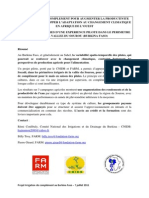 Irrigation Complément Burkina FARM CNIDB 7 Juillet 2011