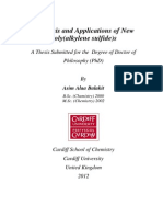 Synthesis and Applications of New Poly(Alkylene Sulfide)s