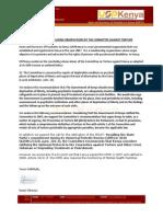 USPKenya Endorsement Letter Committee Against Torture (CAT) 03062013