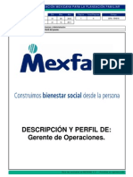 DFA-RH018 Descripcion de Puesto Gerente de Operaciones