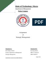 strategic management assignment strategic management business strategic management assignment