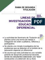 Lineas de Investigacion en Educacion Diferencial