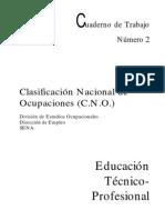 Clasificacion Nacional de Ocupaciones