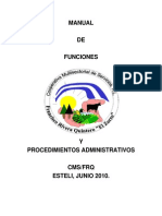 Manual de Funciones Administrativas