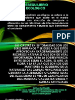 DESEQUILIBRIO ECOLOGICO