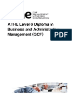 ATHE - Level 6 Diploma in Business and Administrative Management QCF