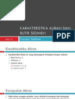 TSed02 Karakteristika Aliran Dan Butir Sedimen
