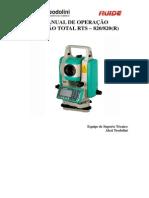 Manual de Operação Basica Estação Ruide Rts 820 820 r 3