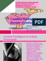 Cambios Fisiologicos en La Mujer Embarazada !!!