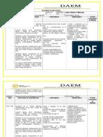 Plan Anual  artes 8° 2014