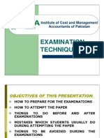 Examination Techniques ICMA