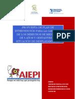 Intervencion Desplazados Aiepi 2010