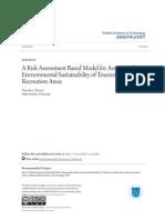 A Risk Assessment Based Model for Assessing the Environmental Sus