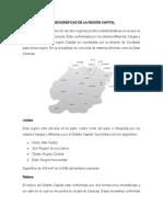 Características Geográficas de La Región Capital