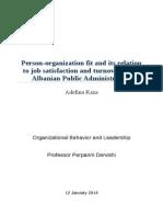 Person-Organization Fit Report ADA