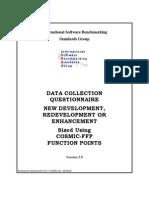 Development Questionnaire V5.9.1 COSMIC