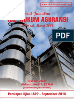 Soal Jawab ujian LSPP AAMAI 102 - Hukum Asuransi - September 2014