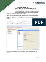 LogMate Configuration Changes for DeltaV 9 Upgrades
