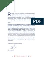 Charte de La Laïcité Dossier de Présentation