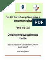 Chim430 Organometallique Poly de Cours 2012 2013