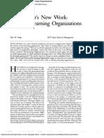 SENGE 1990 the Leaders New Work Building Leaning Organizations