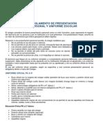 Reglamento Presentación Personal y Uniforme Escolar