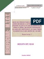 GPE 102-04 Ghid de Proiectare Si Executie in Zone Seismice a Struct de Zidarie