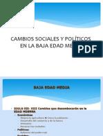 Cambios Sociales y Politicos