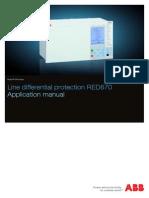 1MRK505186-UEN D en Application Manual Line Differential Protection IED RED 670 1.1