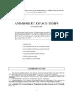 Animisme Et Espace Temps