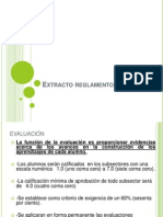 extracto reglamento evaluacion